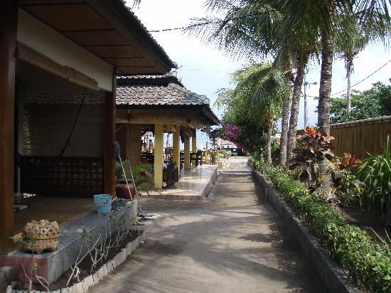 Pesona Beach Resort & Spa : the street where there rooms are at