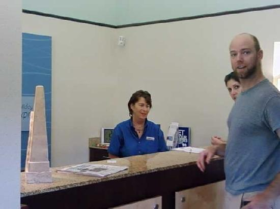 Holiday Inn Express Cape Coral/Fort Myers Area: Judith at the front desk..always smiling
