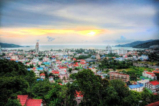 View over Patong from Hilltop Hotel
