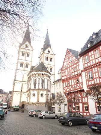 Boppard, Niemcy: The Church on the square