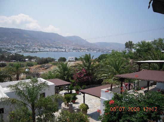 Paros Eden Park: the view of the gulf of parikia