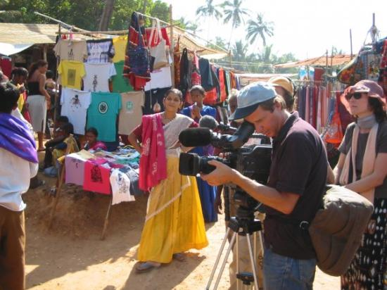 Benaulim, India: Movie making