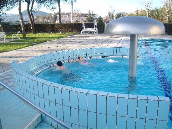 Hotel Abano Verdi Terme: PIscina esterna con idromassaggio