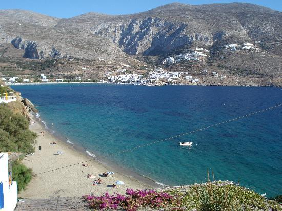 Amorgos, Greece: View from Levrosos beach