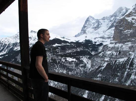 View From Balcony Picture Of Hotel Alpina Murren TripAdvisor - Hotel alpina murren switzerland