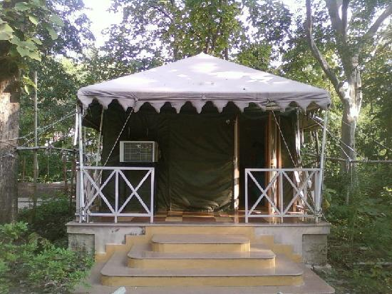 Delawadi, Indien: Our tent house