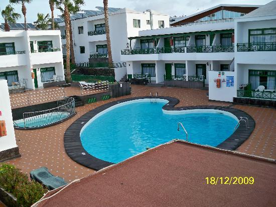 Elena Apartments: swimming pool from our balcony