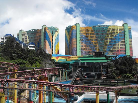 Seri Malaysia Genting Highlands: Genting Hotel. 3000++ room capacity with an amusement park within and around