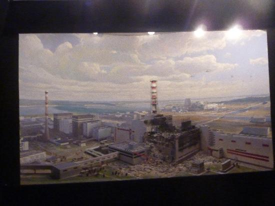 Chernobyl National Museum: Impressive diorama that magically changes to show the reactor's demise, December 2009, by Alan S