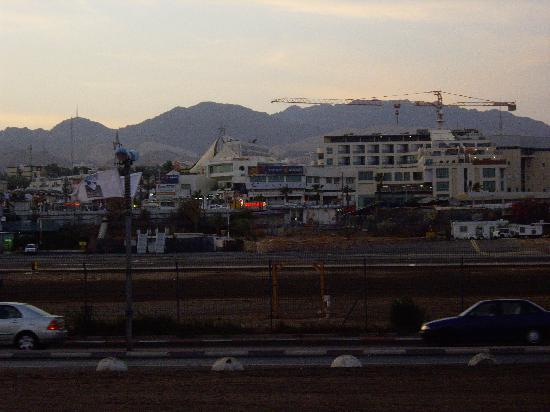 C Hotel Eilat Hotel: Hotel seen from across the airport strip