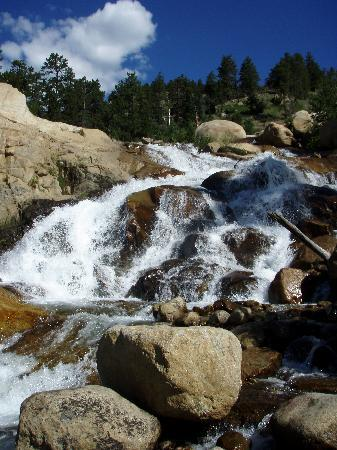 Alluvial Fan : Close-up of the falls