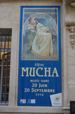 Musée Fabre : the main reason to make this stop, an amazing and overwhelming Mucha exhibition