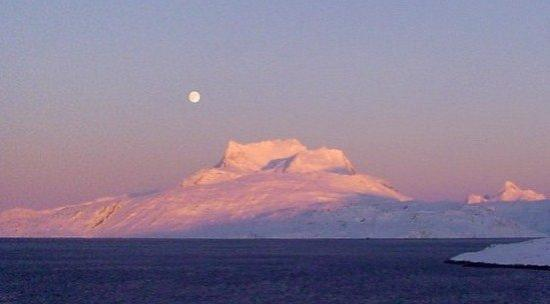 "Nuuk, Greenland. This is ""Sermitsiaq"" the beautiful famous mountain in Nuuk."