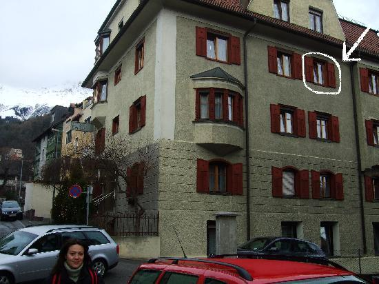 Tautermann: The hotel and our room.