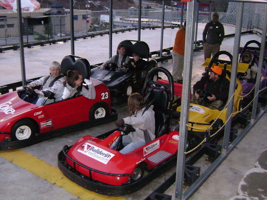 Asheville's Fun Depot: Getting ready to be run over by the kids