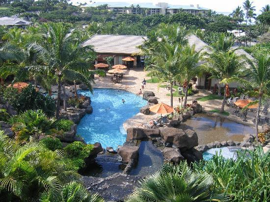 Ho'olei at Grand Wailea: The view from our unit