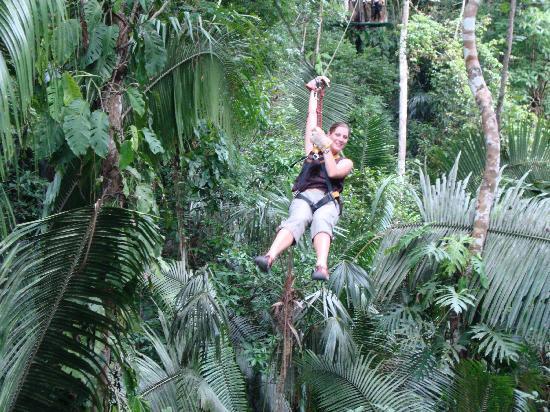 Ixpanpajul Nature Park: Ixpanajul - zipline