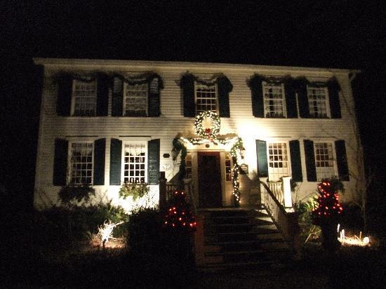 Annette Twining House: lit up for Christmas