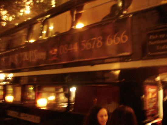 The Ghost Bus Tours - London: side of the bus
