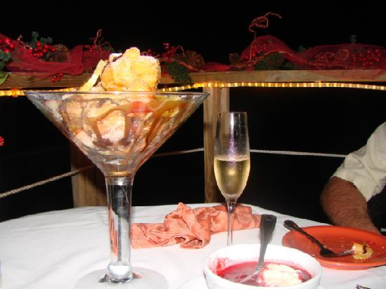 The Lighthouse Restaurant: beignets and champagne