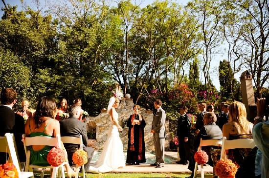 Antigua Villa Santa Monica: Ceremony by the Pool