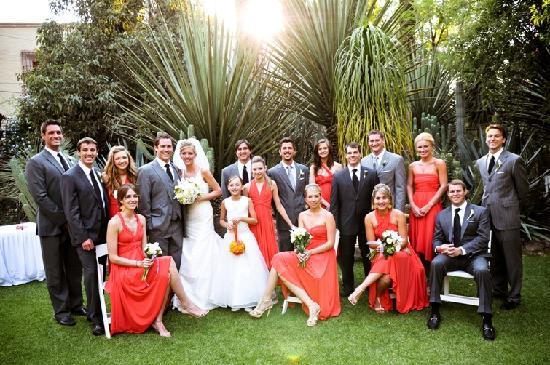 Antigua Villa Santa Monica: Wedding Party in the Garden