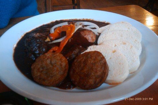 Zlaty Klas: Goulash with two kinds of dumplings
