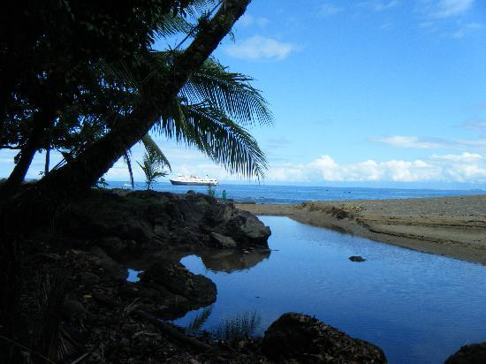 Corcovado Adventures Tent Camp: Drake Bay from a Hammock