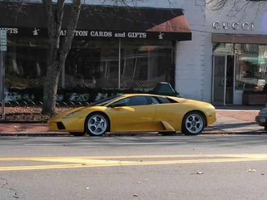 East Hampton, NY: A Lamborghini Murcielago in the Hamptons...fits right in.
