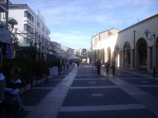 Il centro di Abano Terme.