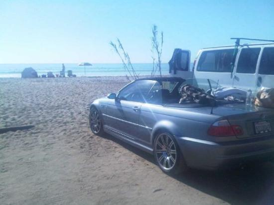 San Onofre, CA: My Car wasn't the traditional all terrain vehicle on the beach!