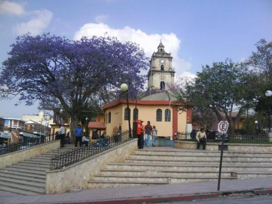 The town square in Santa Cruz del Quiche where the Water for People office is based.