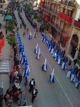 From my hostal balcony - Good Friday, Semana Santa - Antequera