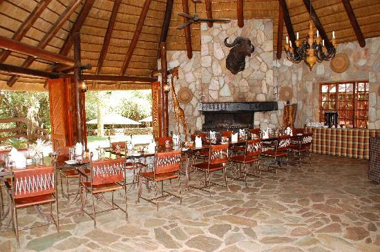 Kapama Private Game Reserve, แอฟริกาใต้: dining room