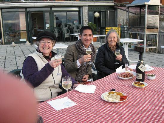 Funivien del Lago Maggiore: Antipasta on the veranda