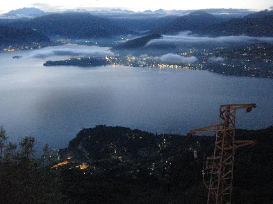 Funivien del Lago Maggiore: Lights in the distance