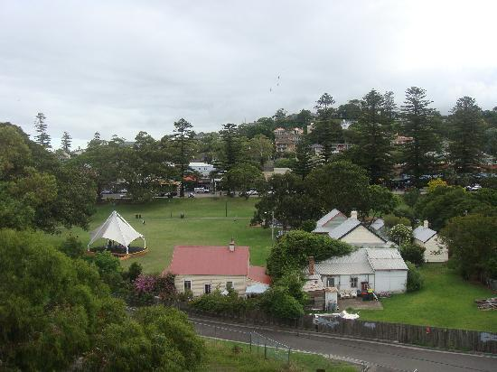 The Sebel Harbourside Kiama: View from room 304 over park and Kiama shops