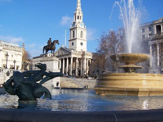 Londres, UK: Trafalgar square