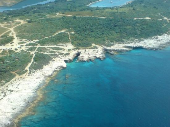 Flight over the coastline near Medulin and Pula