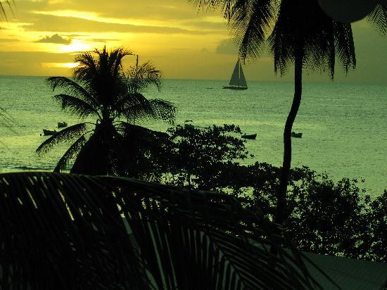 Holetown, Barbados: evening view from the Mango Bay