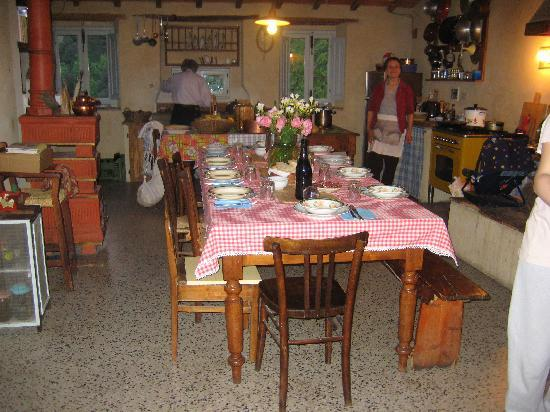 Podere La Casellina: the kitchen