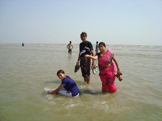 Chandipur, India: Sea beach