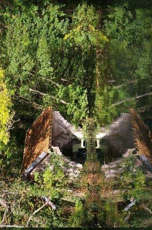 Auberge des Vieux Moulins Banaux: View accross the mill race