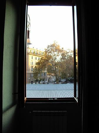 View from Room 13 at Hotel Trastevere.