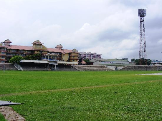 Landmark Hotel: The Landmark as seen from the cricket ground