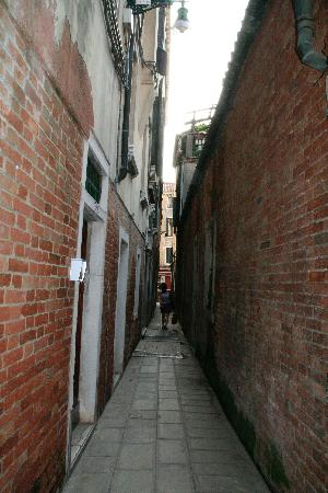 The Narrow Alley Where The Hotel S Front Door Is Located