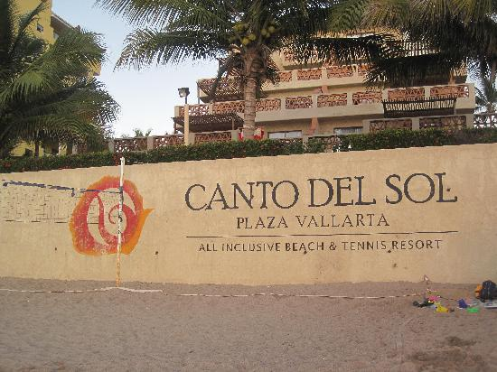 Villas Vallarta by Canto del Sol: Big sign on beach