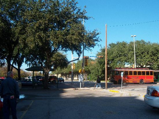 Holiday Inn Express San Antonio N-Riverwalk Area: Riding the trolly gets you anywhere you want