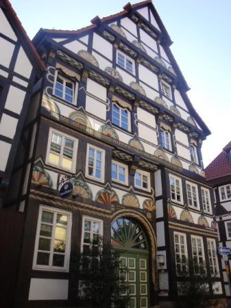 Ackerbürgerhaus. Arquitecture splendour. House in the old part of Hameln, year 1560. This house