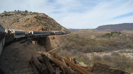 Verde Canyon Railroad: Train Winding Through the Canyon